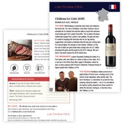 Example image of tasting notes