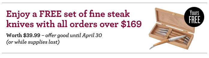 FREE Steak Knives