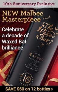 The Waxed Bat Malbec 2015 10th Anniversary Release